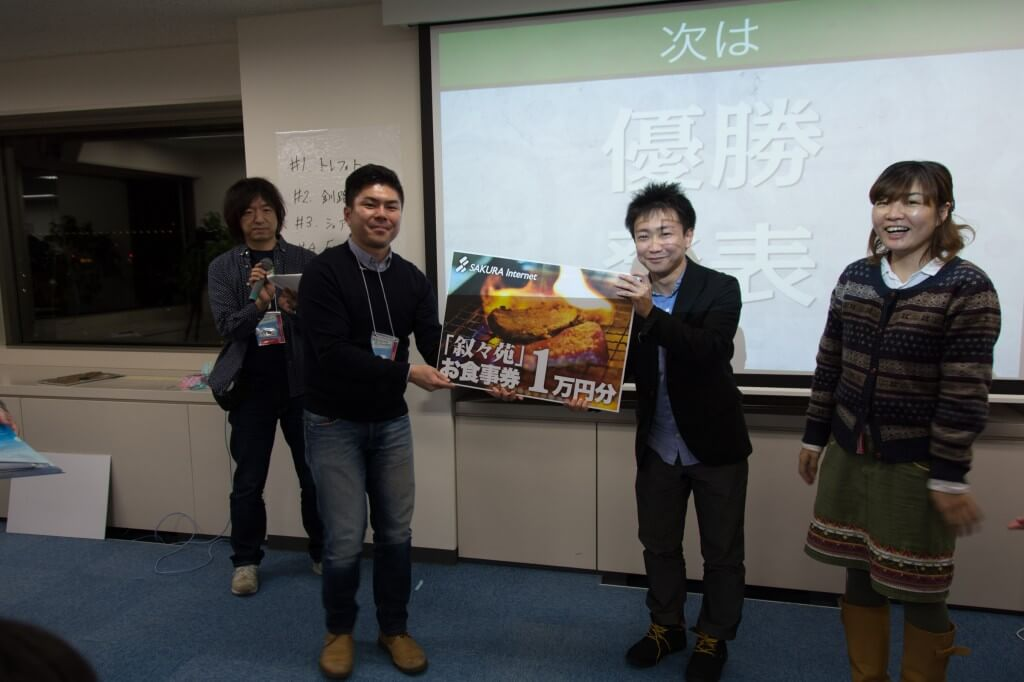 Startup Weekend Sapporo 2位「トレフォト」
